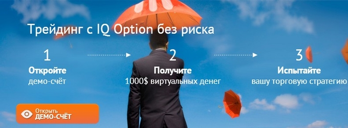 Брокер бинарных опционов IQ Option демо-счет